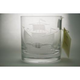 Vasos Whisky tallados Barco